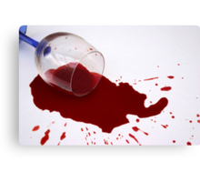 Spilled Wine Canvas Print