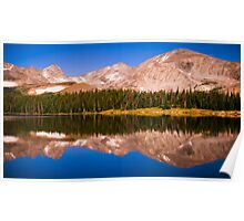 Indian Peaks Reflections Poster