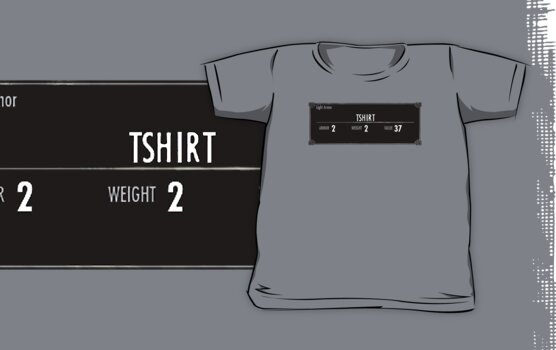 Tshirt Skyrim Stats (Alternate Version) by SkinnyJoe