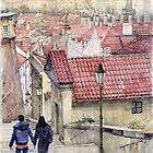 Prague Zamecky Schody Castle Steps by Yuriy Shevchuk