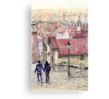 Prague Zamecky Schody Castle Steps Canvas Print