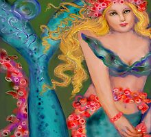 CORAL WREATH BLOOM MERMAID by kimberlysdream