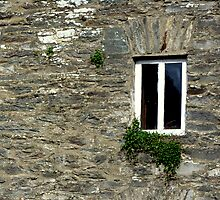 Stone Wall With Window by Fara
