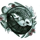Koi fish yin and yang by Chloeosity