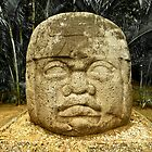 Olmec Colossal Head by Miguel Garcia Camacho