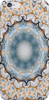 Baroque Blue yellow Rosette-R001 by Heidivaught