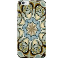 Blue Baroque Leaf Scroll-r0013 iPhone Case/Skin