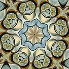 Blue Baroque Leaf Scroll-r0013 by Heidivaught