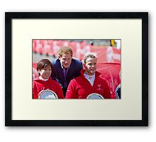 Marcel Hug with Wakako Tsuchida & Prince Harry Framed Print