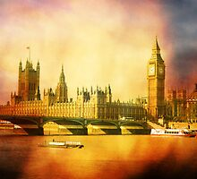 Westminster Palace and Bridge by Heidi Hermes