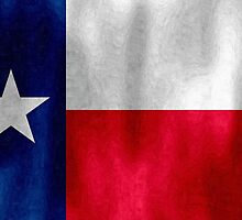 Texas Lonestar Flag in Digital Oil Paint by SJBroadmeadow