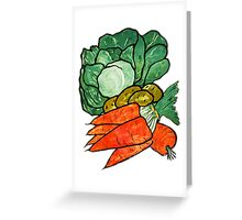 Lettuce, Carrots & Potatoes Greeting Card