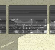 composition 3 window - pic2line - Bridge in Amsterdam by AnnoNiem Anno1973