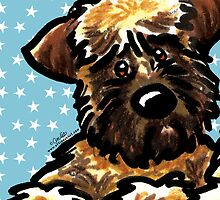 Soft Coated Wheaten Terrier Seeing Stars by offleashart