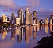 Brisbane City & River. Queensland, Australia by Ralph de Zilva