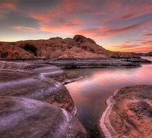 Dusk On Granite by Bob Larson