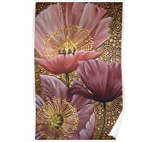 Three Pink Poppies Poster