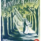 AVENUE OF TREES (vintage illustration) by ART INSPIRED BY MUSIC