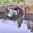 Leiden .. Zuid Singel Bridge with  a Touch of Impressionism . by John44