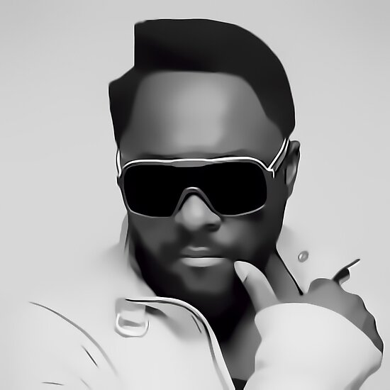 Will.i.am Digital Portrait by David Alexander Elder