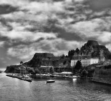 The old fortress of Corfu by Spiros Papavlasopoulos