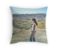 Viewing the vast landscape Throw Pillow