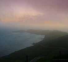 Marin Headland Misty Sunset by David Denny
