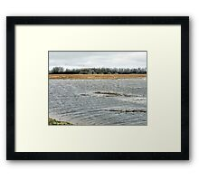 Flooded farm Framed Print