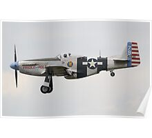 North American P-51K Mustang Fragile but Agile Poster