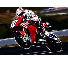 FRACTAL LIGHT MOTORCYCLE RACER DESIGN Photographic Print