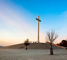 Phoenix Park Chistian Cross - Papal Cross in Dublin Ireland by Mark Tisdale