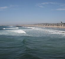 The vibrant coast of Newport Beach, California by DonnaMoore