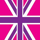 Pink and Purple Union Jack British Flag by DLManiac