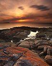 """A Lichen Dusk"" ∞ Coles Bay, Tasmania - Australia by Jason Asher"
