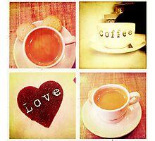 Cambridge Collection: Love Coffee Photographic Print