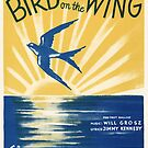 BIRD ON THE WING (vintage illustration) by ART INSPIRED BY MUSIC