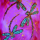 "Dragonfly Flit - ""Mad Magenta"" by lyndseyart"