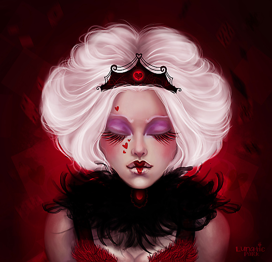 The Queen Of Hearts by lunaticpark