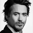 Robert Downey, Jr. Digital Art Portrait by David Alexander Elder
