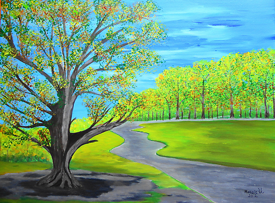 Big tree by the road by maggie326