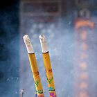 Incense Sticks, Big Wild Goose Pagoda, Xi'an by Matthew Walters
