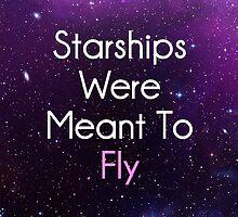 Starships were meant to fly Nicki Minaj by Trevor Simoes