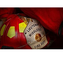 Fireman - Everyone loves red Photographic Print