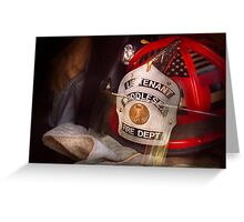 Fireman - The Lieutenants cap  Greeting Card