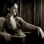 Body painting female artistic nude sepia fine art photo print - '30 - 1 by tree3art