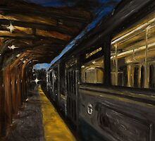 Coolidge Corner Train by Karen Strangfeld