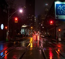 Adelaide Street Facing East In The Evening Rain by Gary Chapple