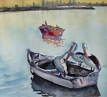 Three in a boat by Karin Zeller