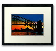 Sunrise, Sydney Harbour Bridge and Opera House Framed Print