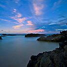 Burgess Beach Rocks at Dusk by bazcelt